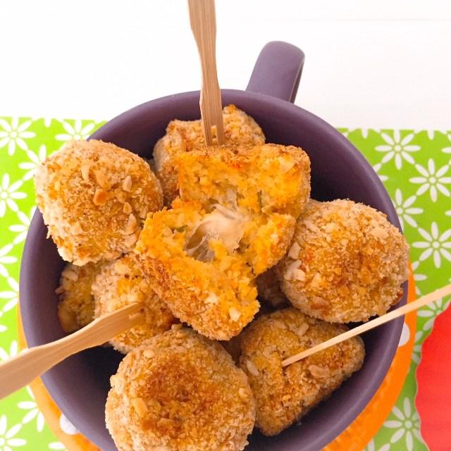 Polpette zucca e patate con cuore di scamorza