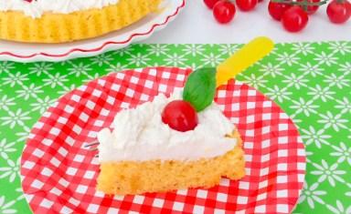 Crostata furba salata spuma di ricotta e pomodorini._fetta