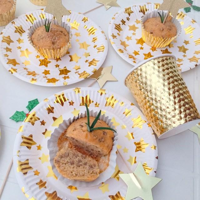 Muffin con farina di mais, lenticchie e rosmarino_dall'alto