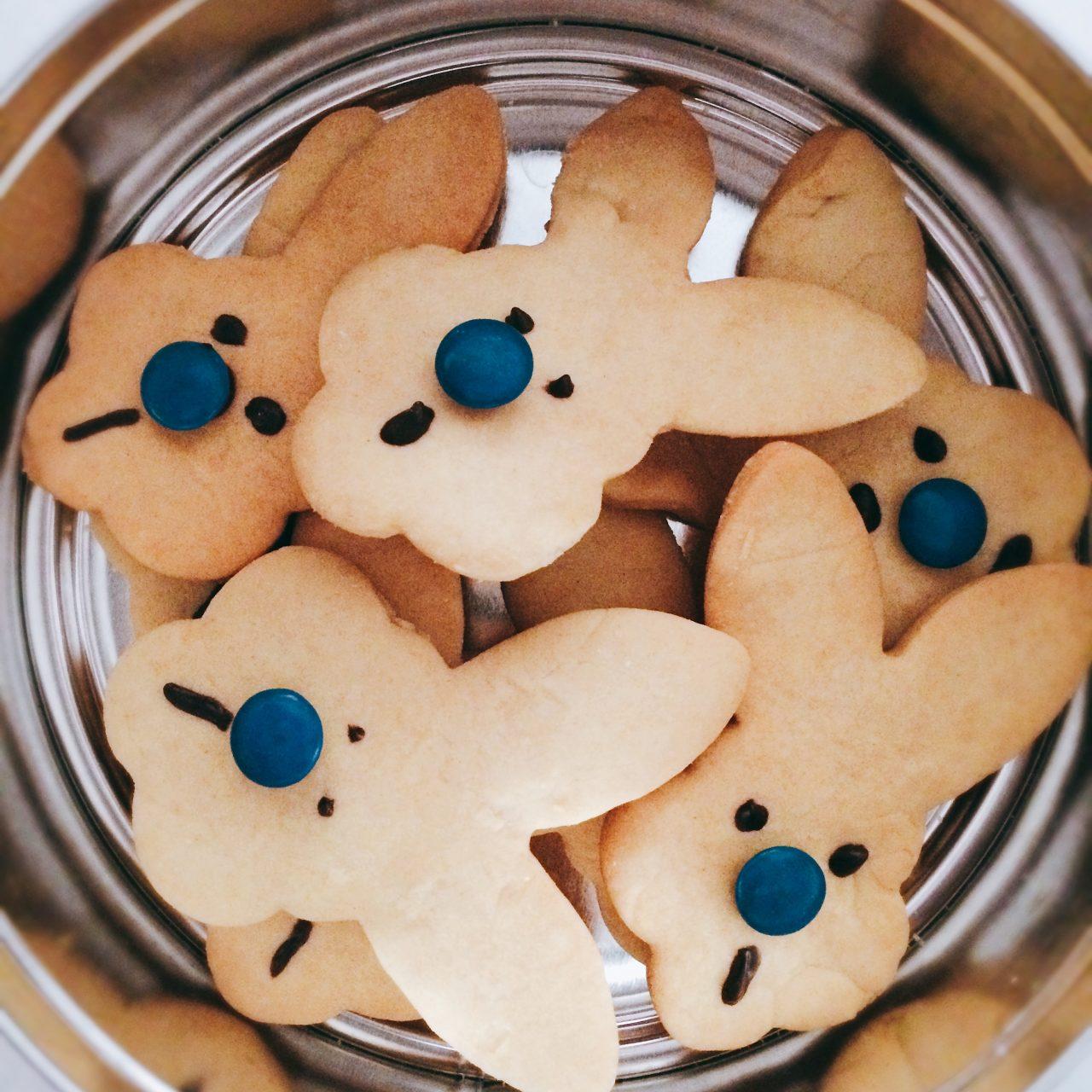Biscotto coniglio in scatola di latta