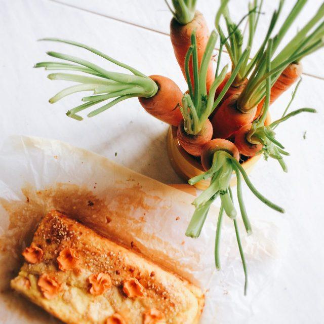 Plumcake carote e patate dall'alto