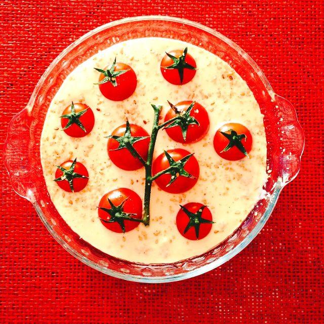 Clafoutis ai pomodorini da cuocere