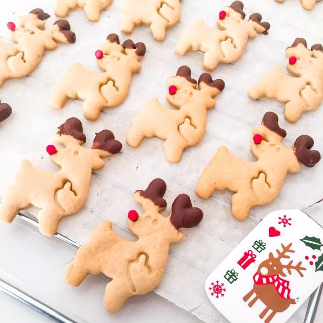 Biscotti Rudolph senza burro decorati