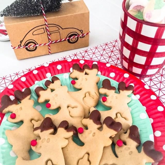 Biscotti Rudolph senza burro nel piattino