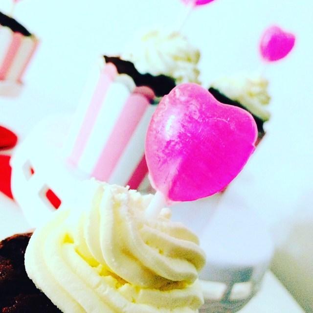 cupcake al cioccolato nere e sale rosa