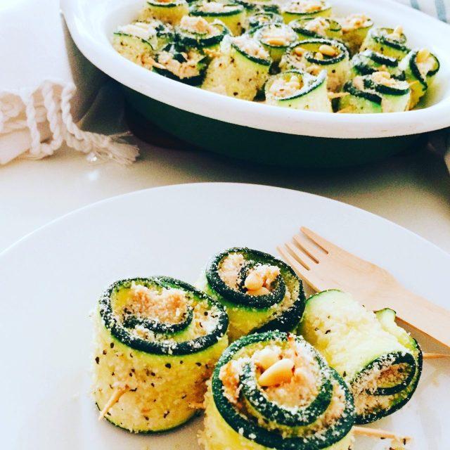 Involtini di zucchine al gratin con tonno e formaggio