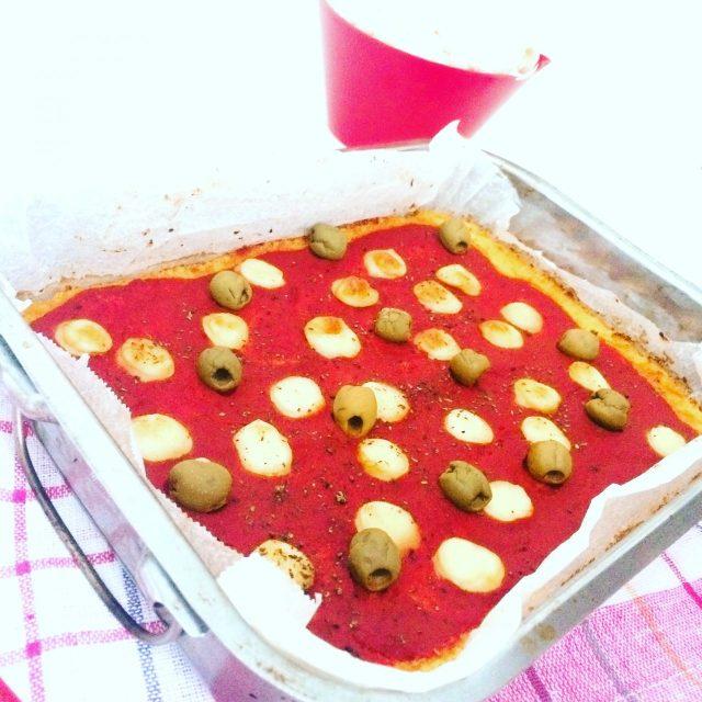 Pizza al cavolfiore in teglia