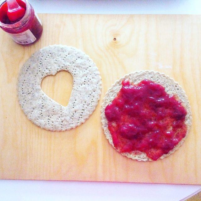 Maxi Linzer cookie con marmellata