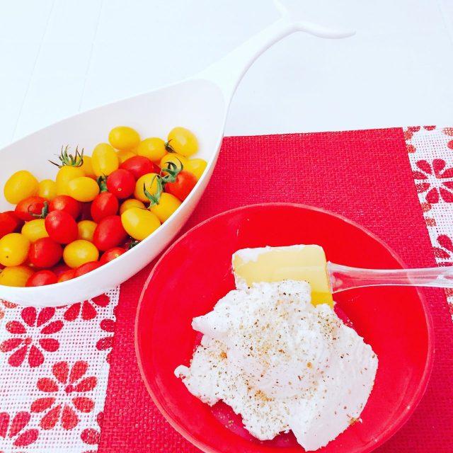 Tartellette semidolci ricotta yogurt e pomodorini_farcitura