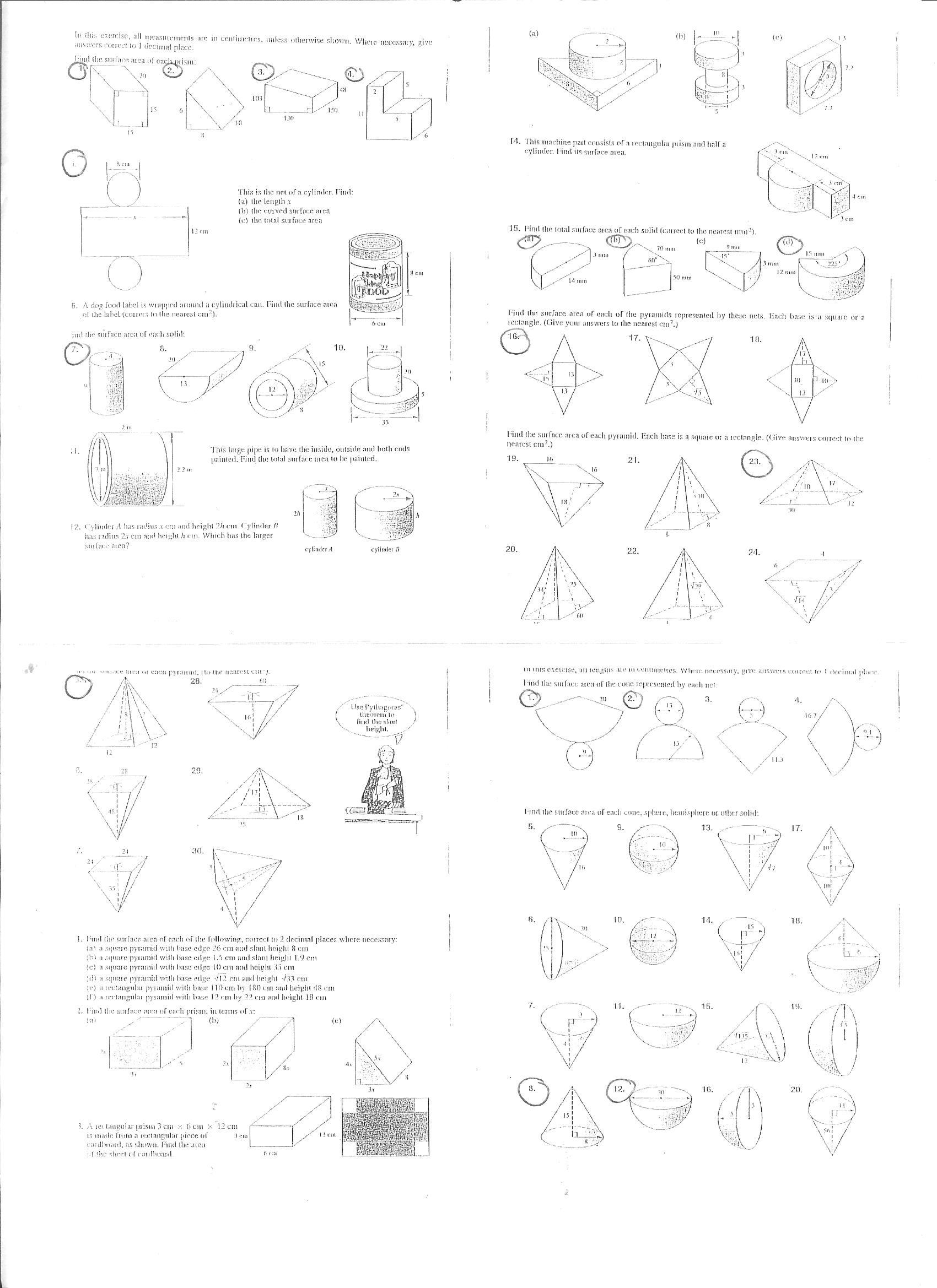 Year 10 – Composite Area & Surface Area