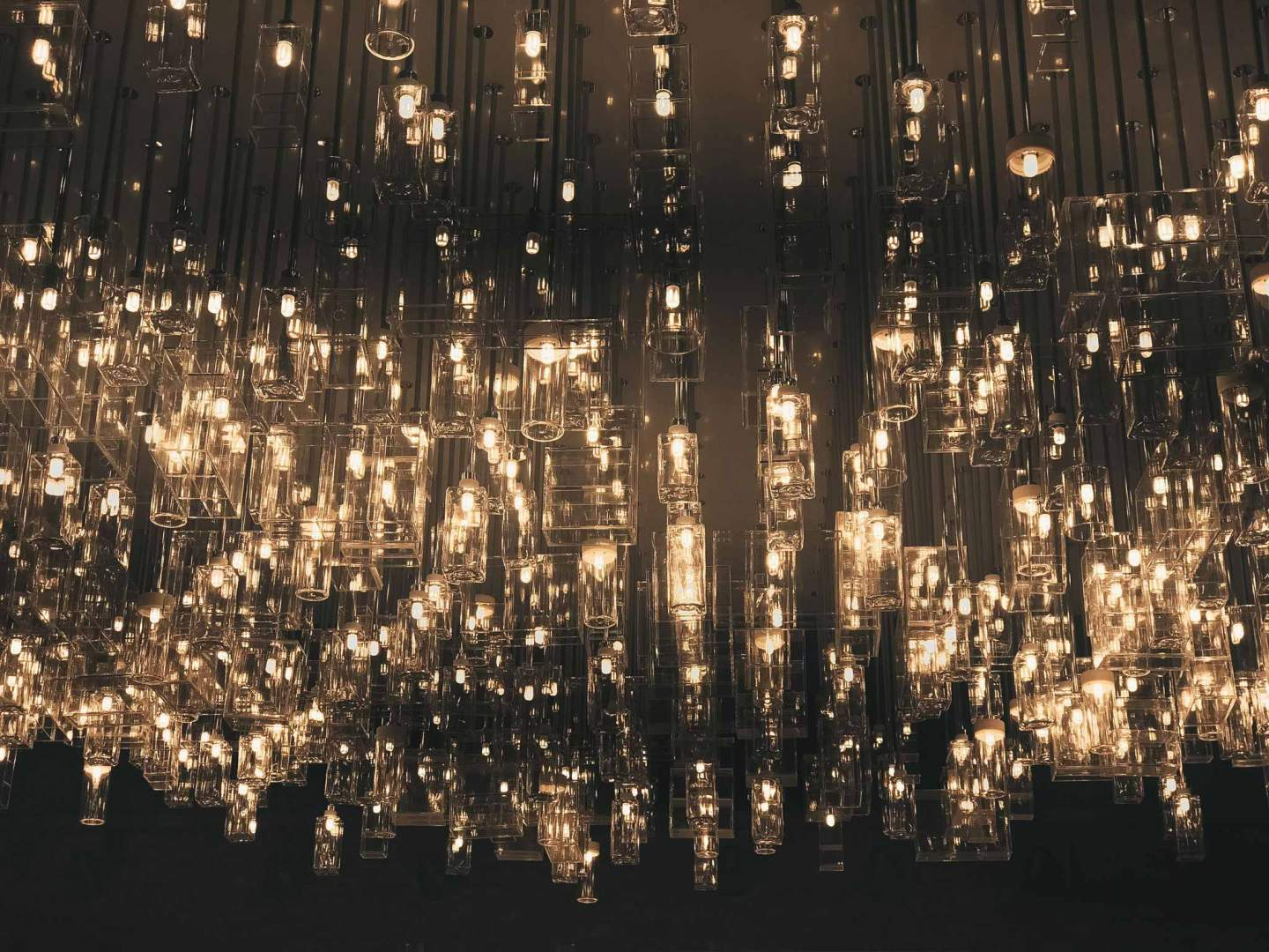 MUJI flagship store front chandelier