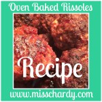 Oven Baked Rissoles