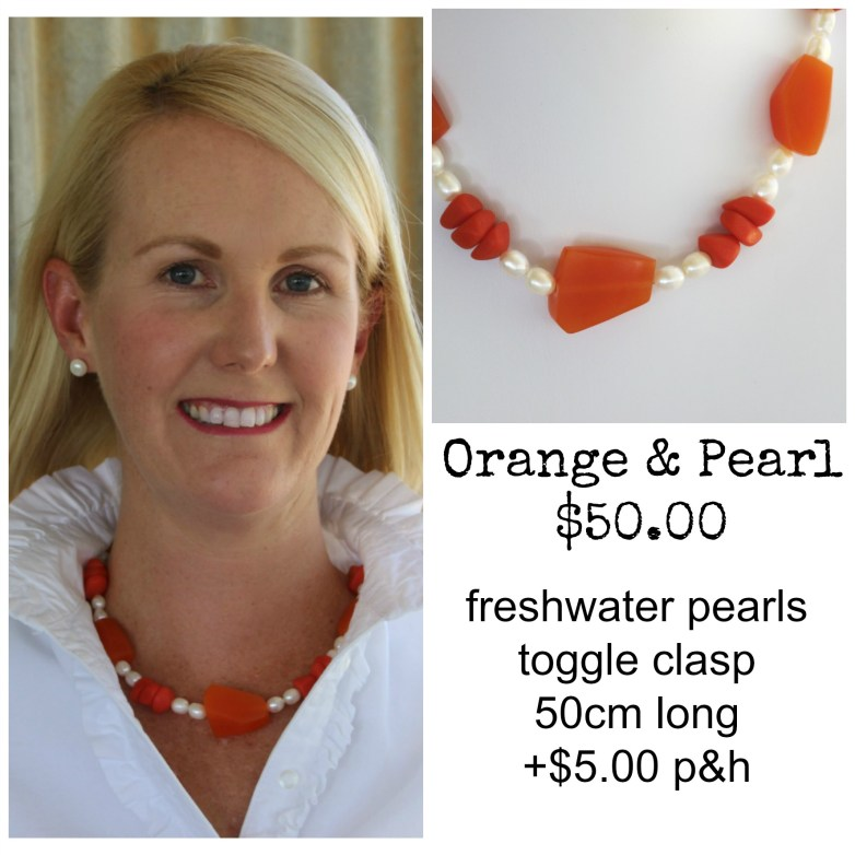Orange & Freshwater Pearls