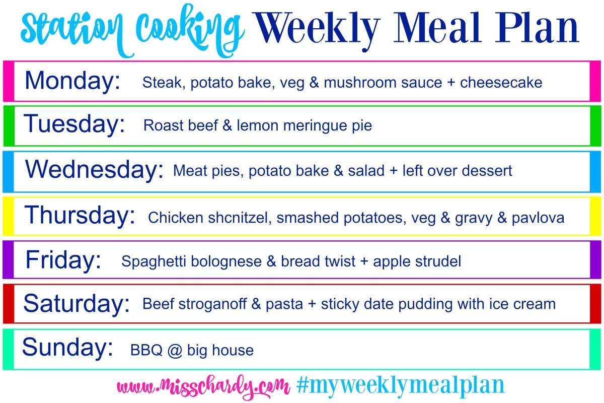 My Weekly Meal Plan
