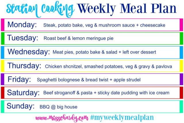 My Weekly Meal Plan – Weekly Meal Plan