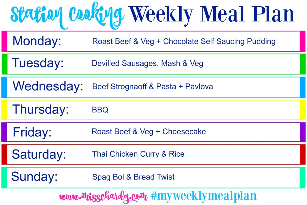 Cooking with Chards: Weekly Meal Plan