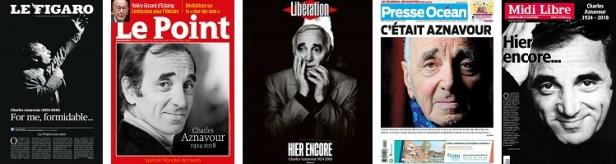 Revue de presse Charles Aznavour