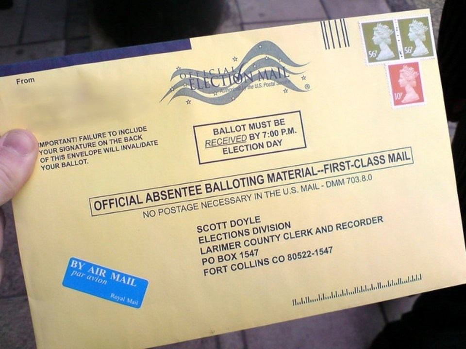 Official Absentee Ballot Envelope