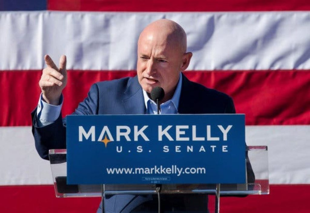 Democrat challenger Mark Kelly