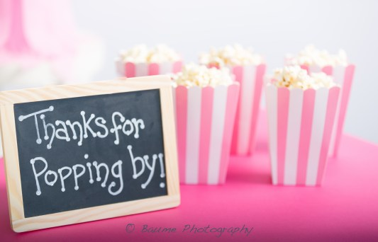 Thanks for popping by! Chalkboard sign and popcorn