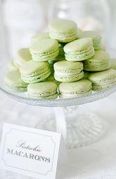 Pistachio Macarons! Green, but not too green!