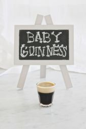 Baby Guinness! Traditional Irish shot with Kahlua and Baileys