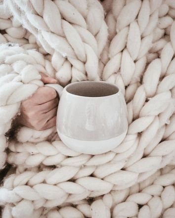Hygge Cosy Knit Blanket and Tea