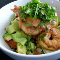 My deliciously healthy prawn salad
