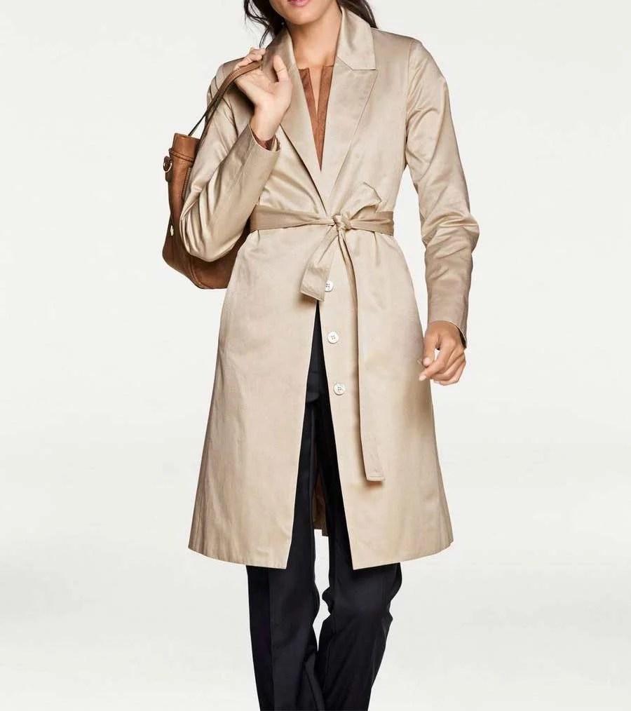 010.557 PATRIZIA DINi Damen Designer-Trenchcoat Mantel Edel Coat Bindegürtel Trench