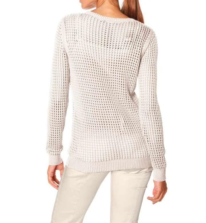 028.999 ASHLEY BROOKE Damen Designer-Pullover Natur