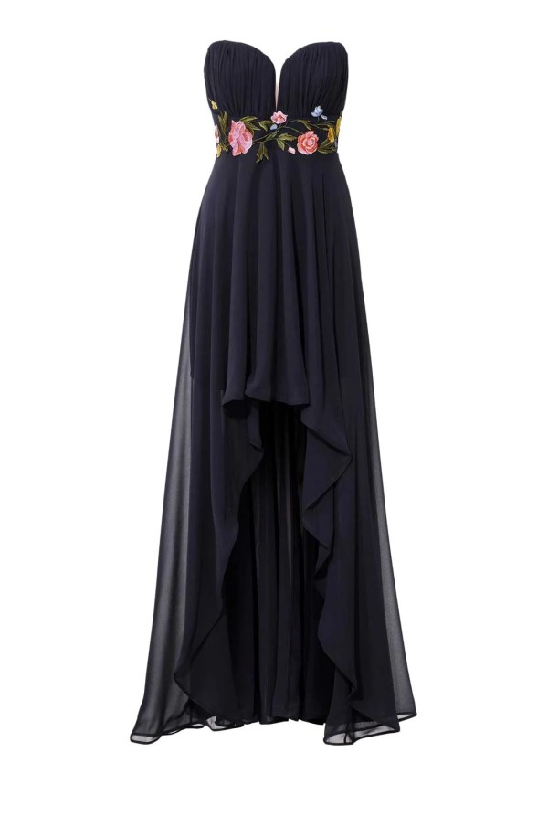 080.597 ASHLEY BROOKE Damen Designer-Abendkleid m. Stickerei Marine