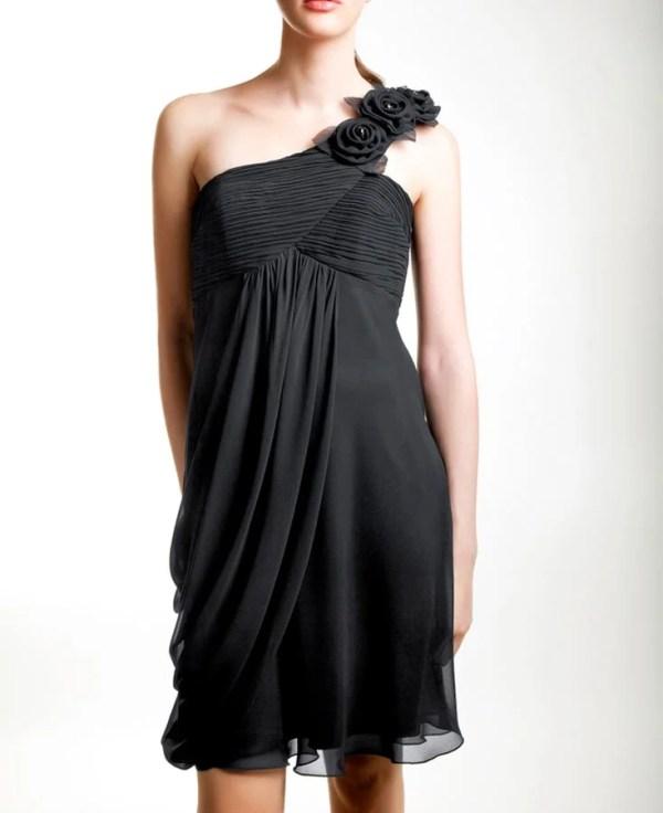 095.854 Chiffon-Abendkleid, schwarz von doridorca Grösse 40