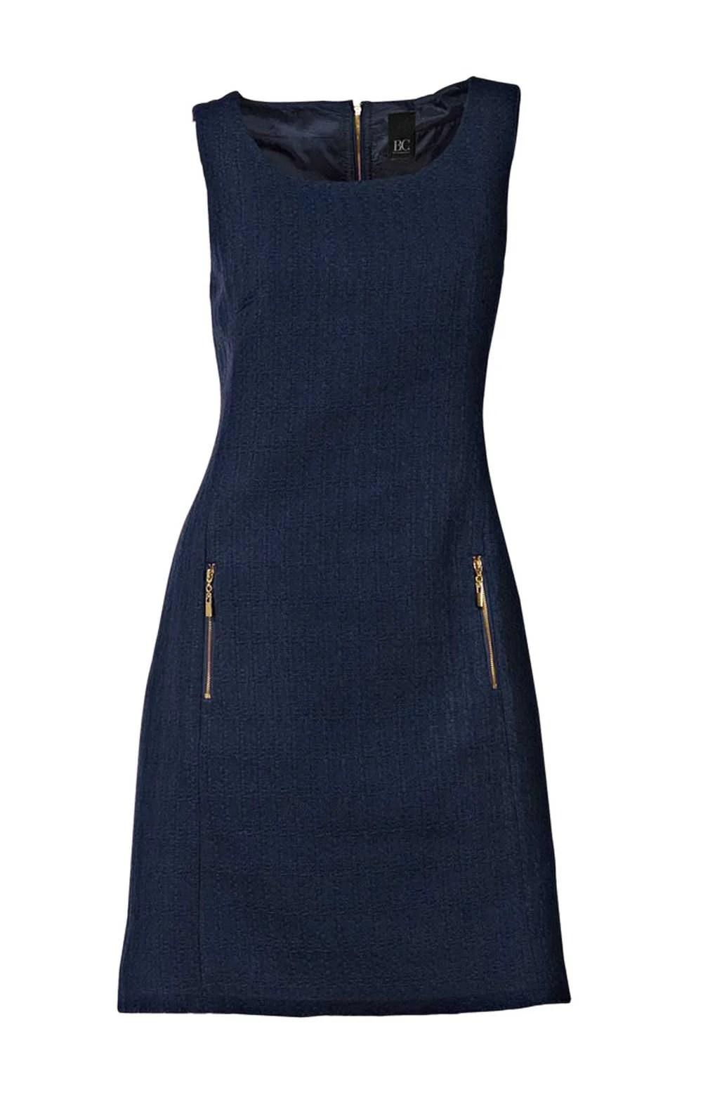 133.236 HEINE Damen Designer-Bouclé-Etuikleid Marine