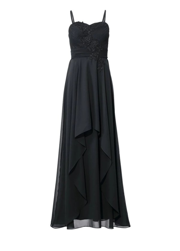 132.868 ASHLEY BROOKE Damen Designer-Abendkleid Schwarz