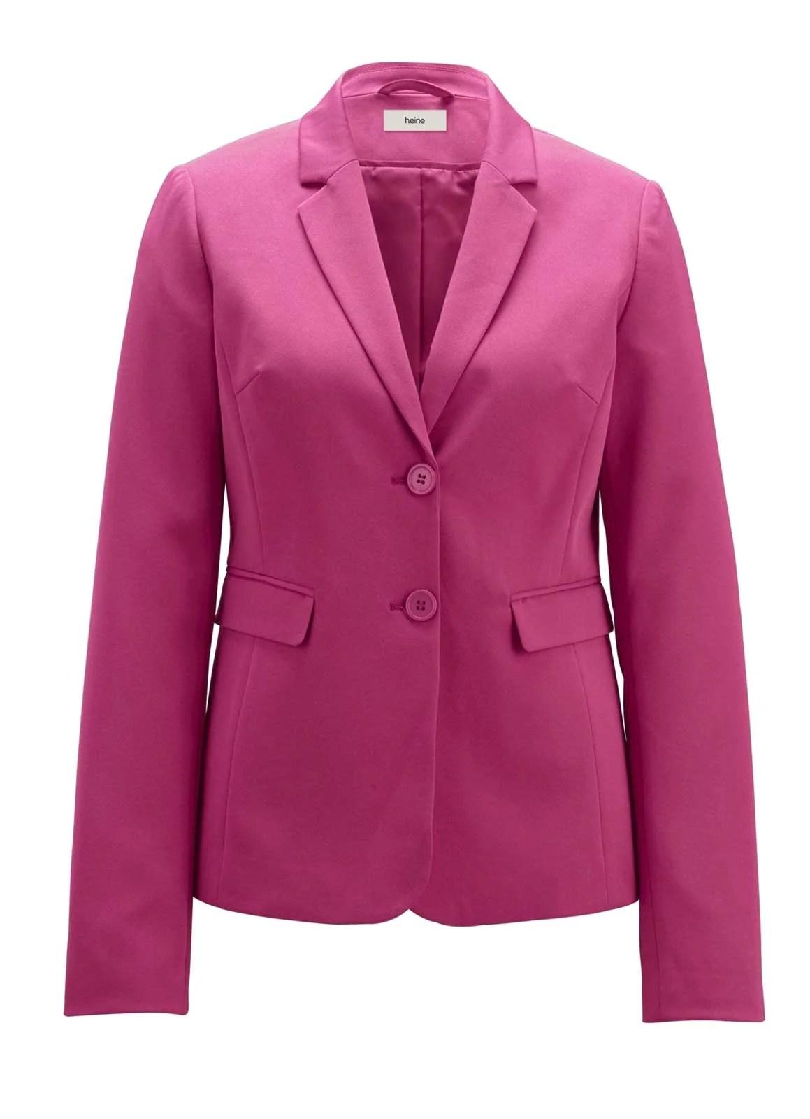 208.632 HEINE Damen Designer-Blazer Pink Business Blazerjacke