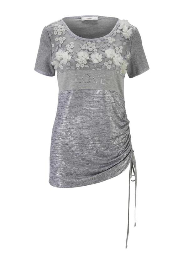 270.586 HEINE Damen Designer-Jerseyshirt Grau-Melange