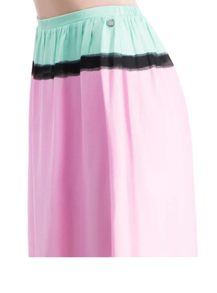 341.934 PEPE JEANS Damen-Maxirock Pachi Colorblocking Bunt