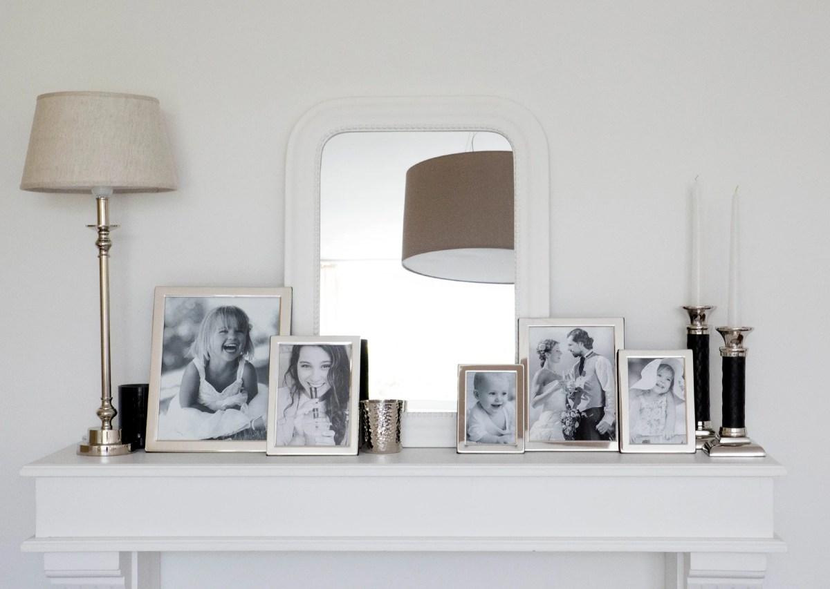 4741 Fotorahmen Salerno für Foto 13 x 18 cm, edel versilbert, anlaufgeschützt, grauer Samtrücken