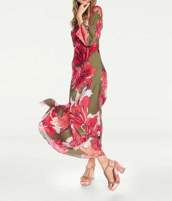 488.203 HEINE Damen Designer-Maxikleid Bunt