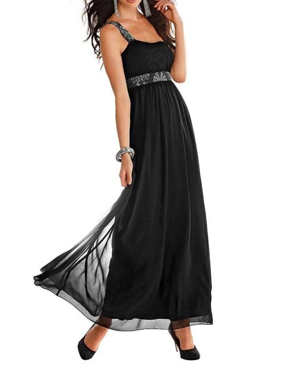 521.771 Abendkleid m. Perlen, schwarz von Laura Scott Evening Grösse 36