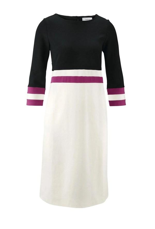 525.002 Heine Jerseykleid schwarz-weiß