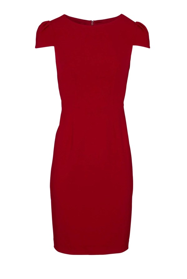 709.308 ASHLEY BROOKE Damen Designer-Etuikleid Rot