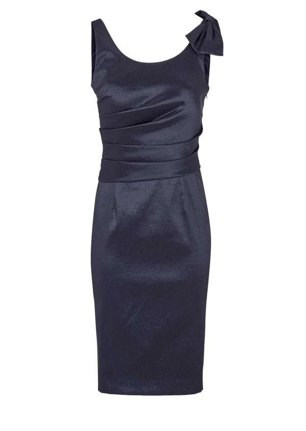 789.620 ASHLEY BROOKE Damen Designer-Cocktailkleid Nachtblau