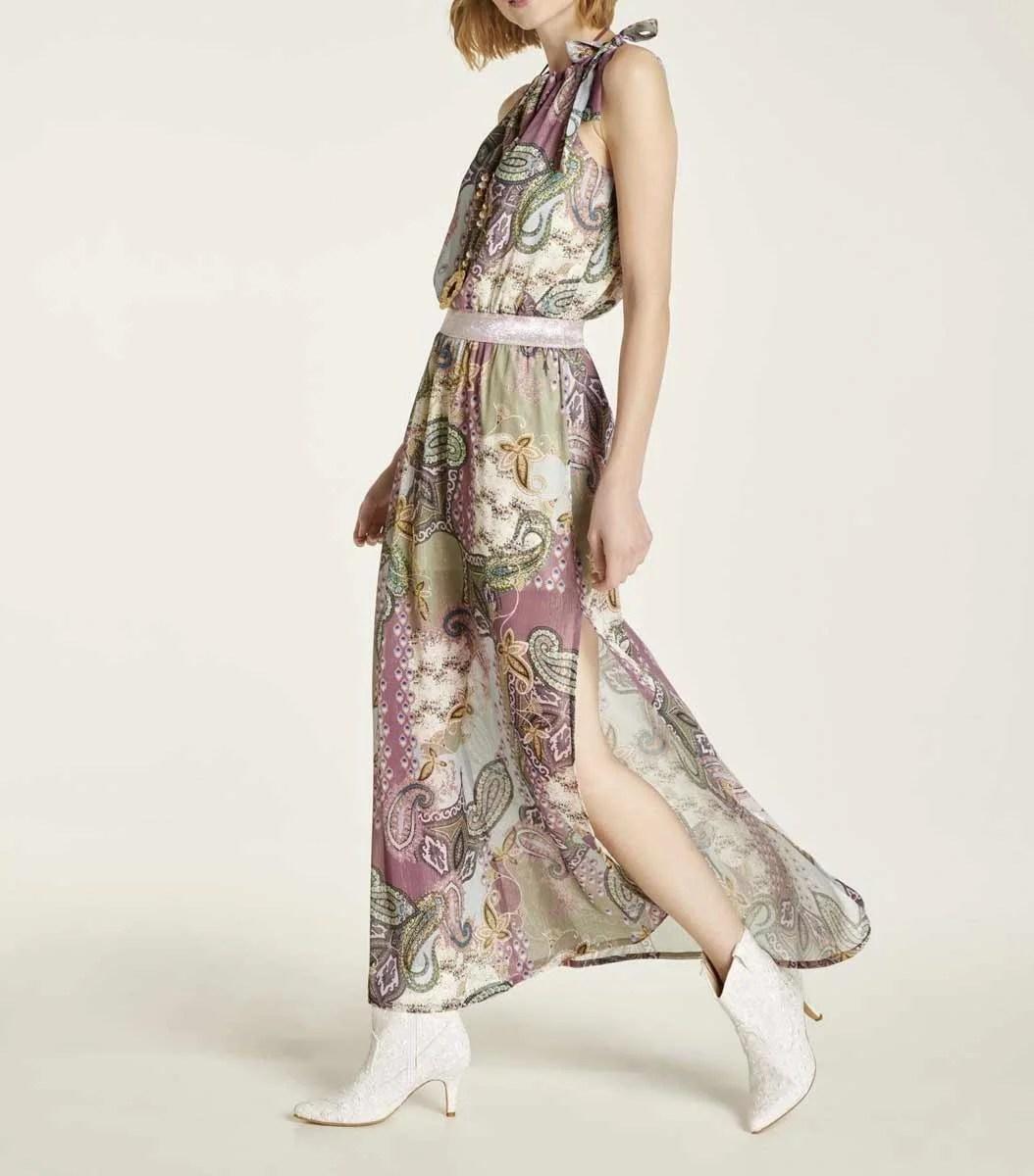 964.253 HEINE Damen Designer-Maxikleid Bunt