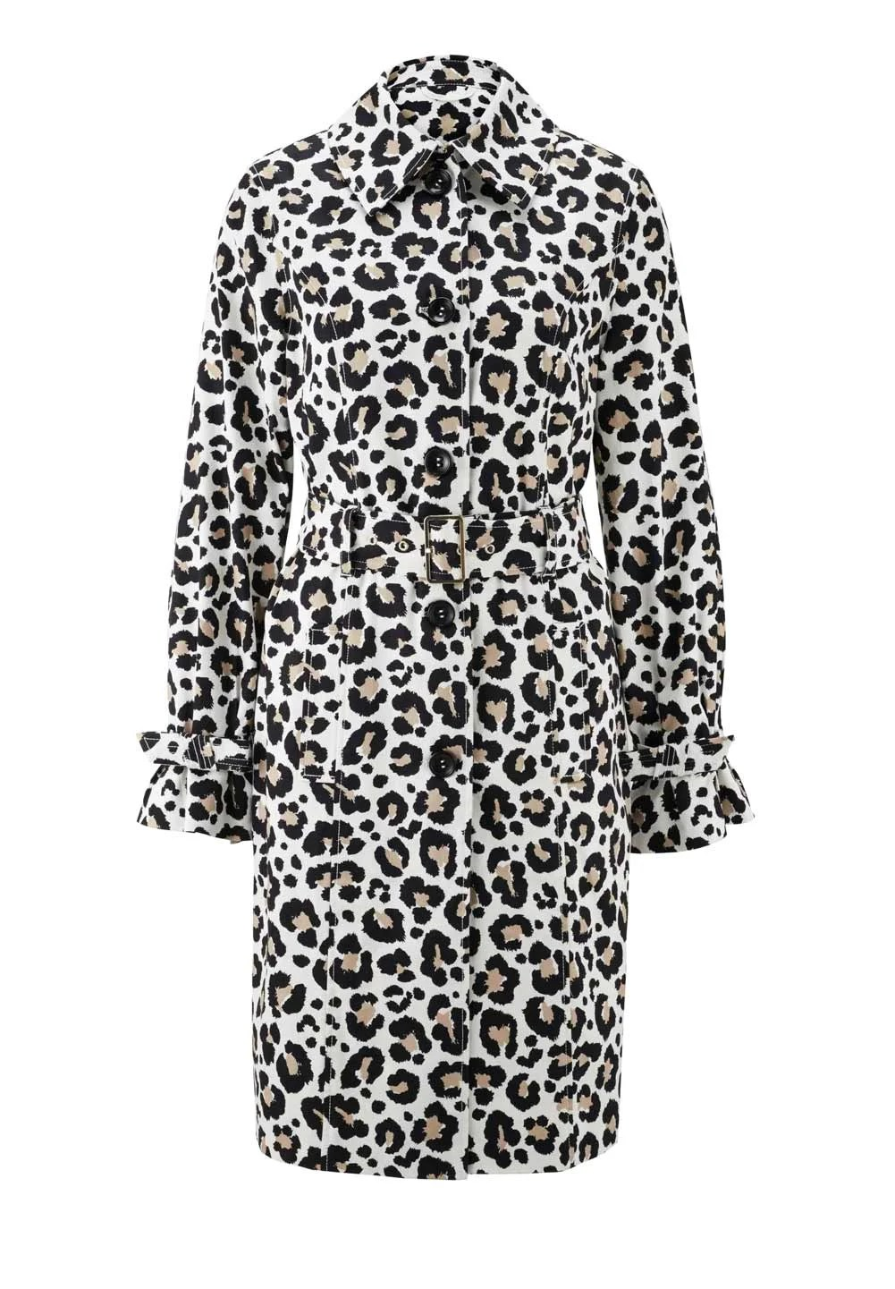 trenchcoat mit leopardenmuster | Missforty