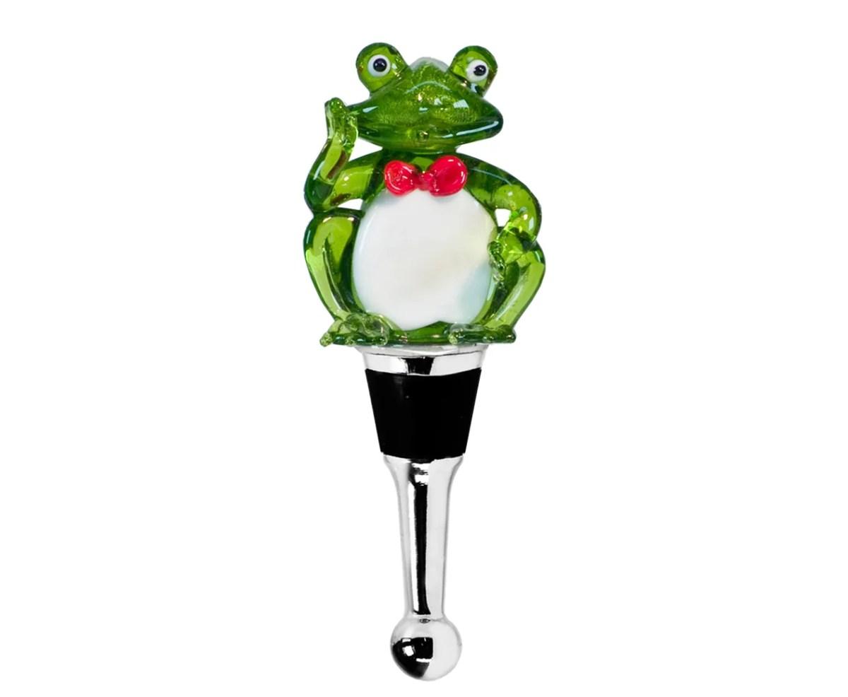 8502 Edzard Flaschenverschluss Weinverschluss Glas Frosch Sektverschluss Handarbeit