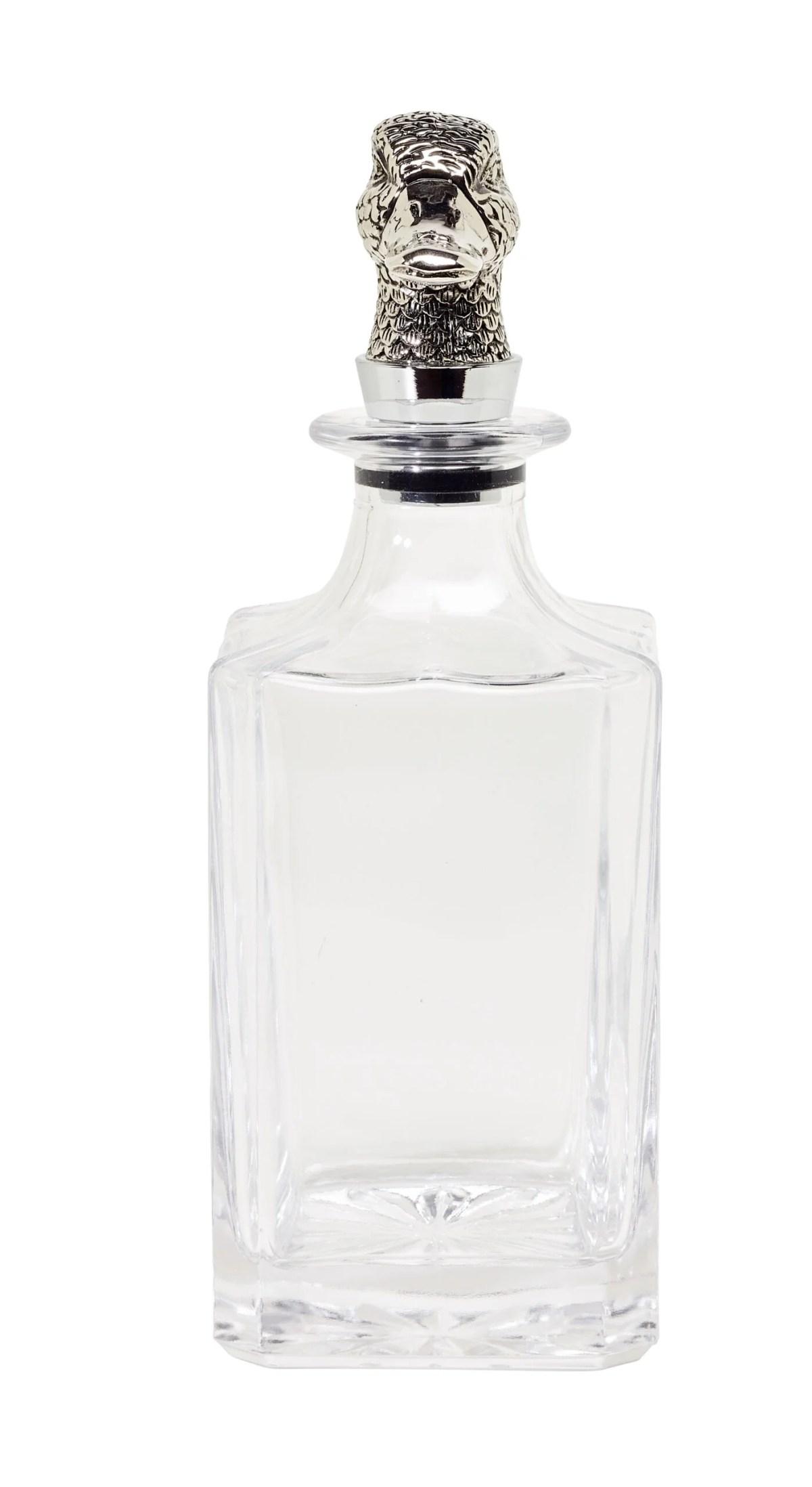 2170 Glas Karaffe Ente H 26cm