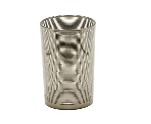 7146 Edzard Teelichtglas Teelichthalter Teelicht Hauke Glas Silber Höhe 18 cm