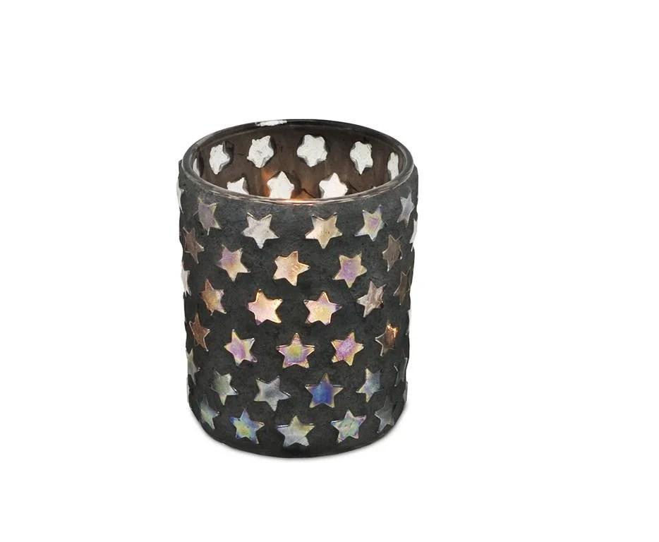 0510 Teelichtleuchter Sterne H 13 cm