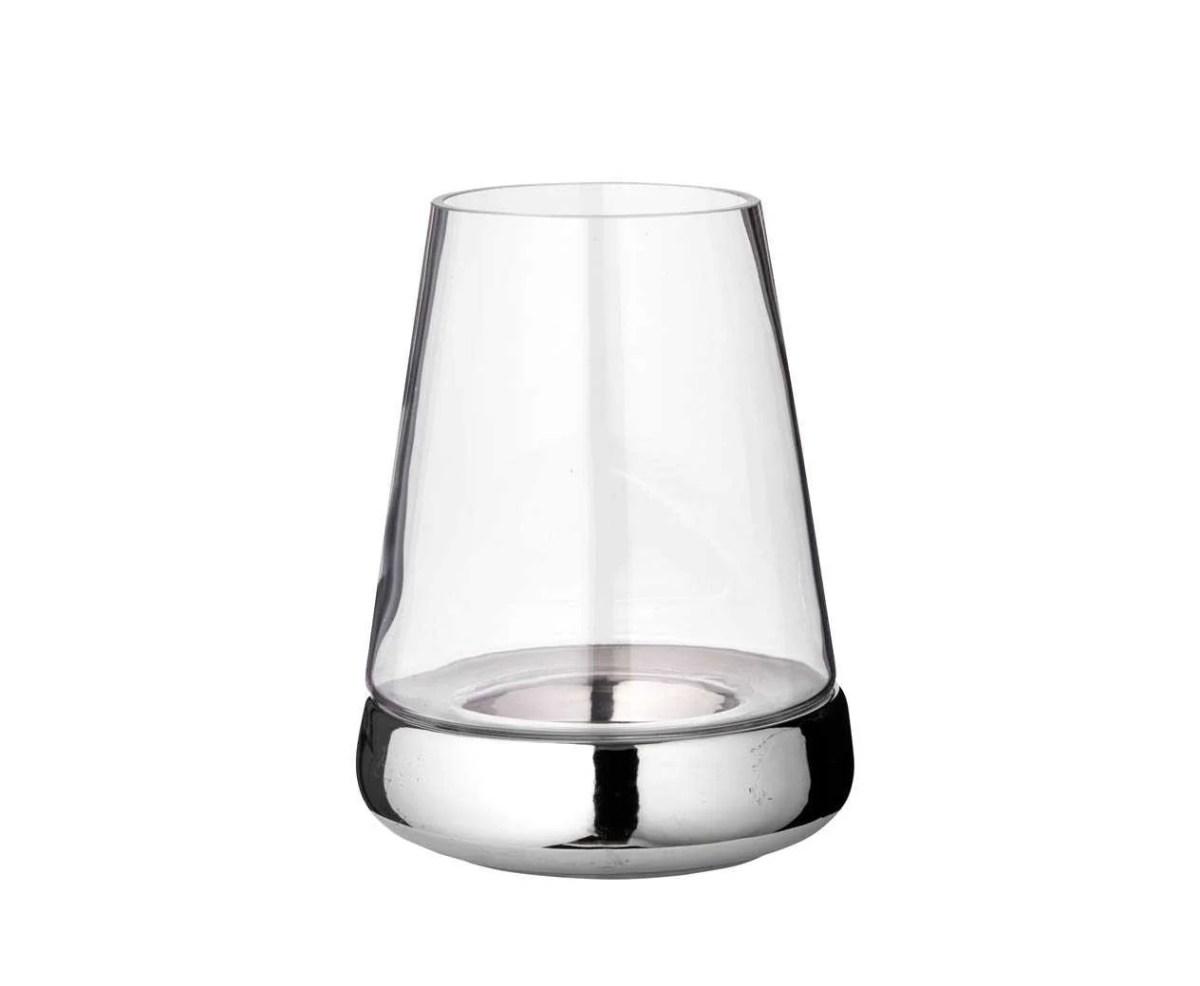 7053 Windlicht Kerzenglas Bora, Glas und Keramik, Höhe 28 cm